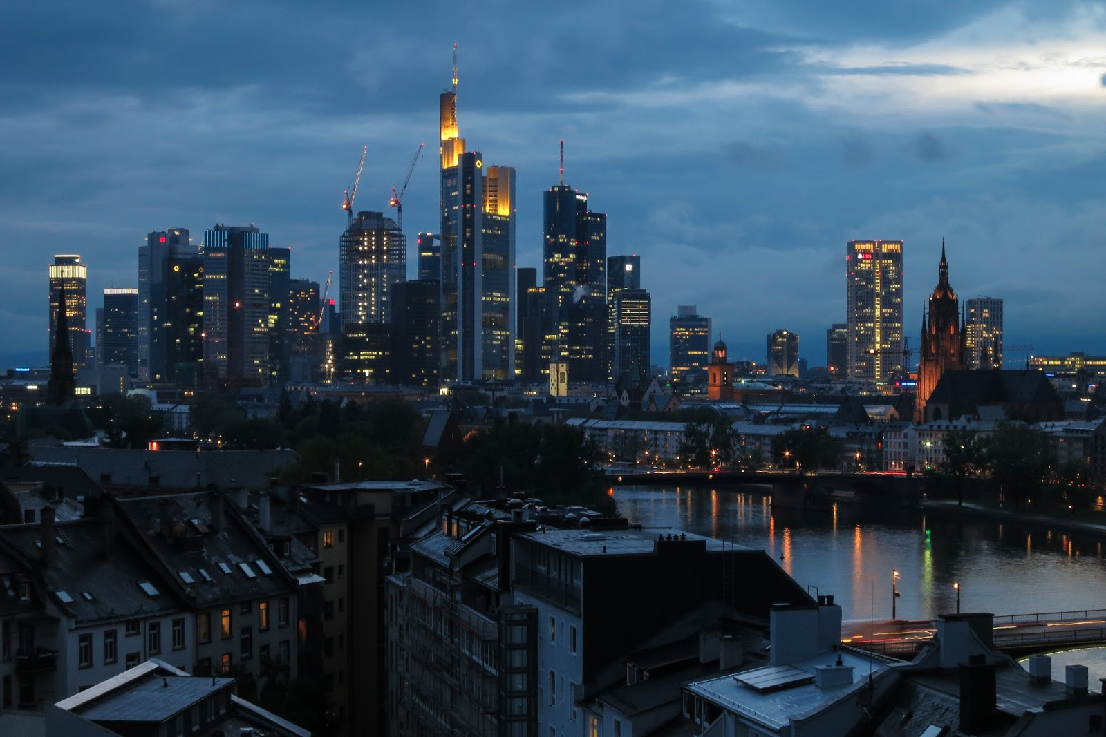 Frankfurt cloudy evening