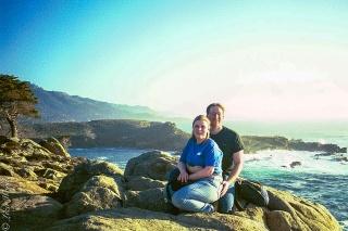 couple at point lobos national seashore