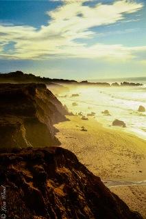 Garrapata State Park seashore at sunset