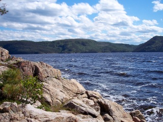 shoreline at Saquenay National Park