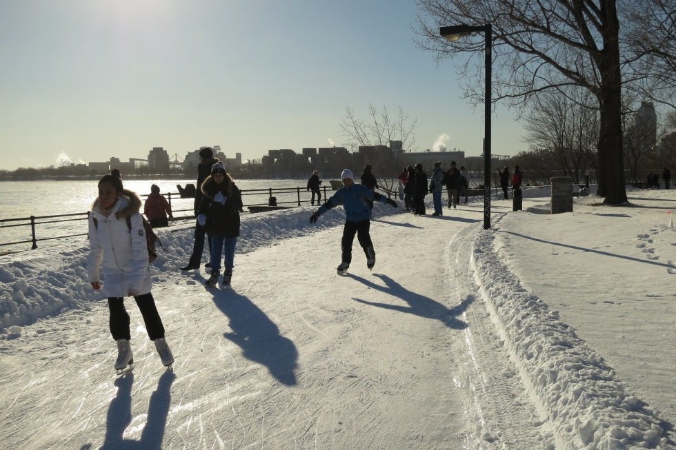 Skating along St. Lawrence river