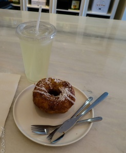 Cronut and lemonade