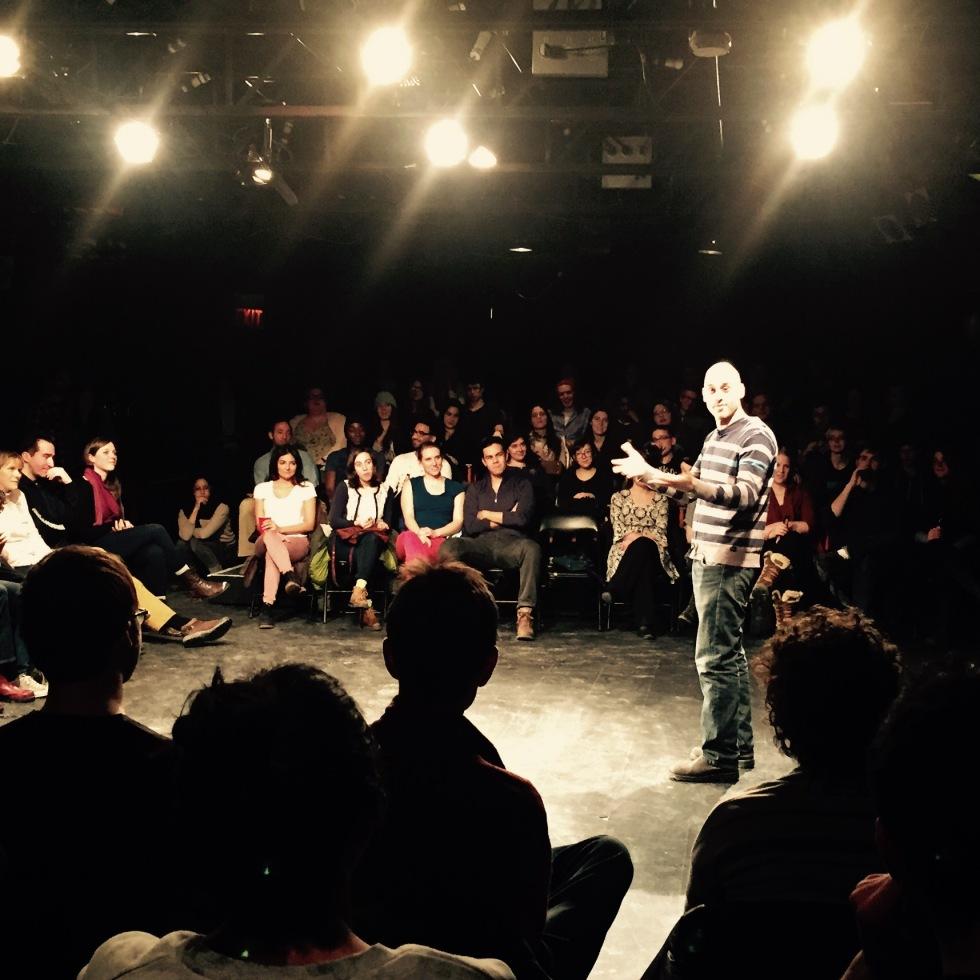 Jeff Gandall storytelling at Mainline Theatre