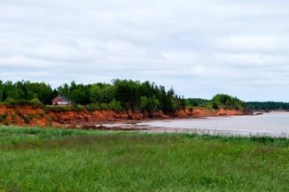 Red clay cliffs of PEI