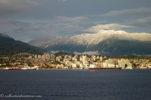 North Vancouver and snow capped mountains