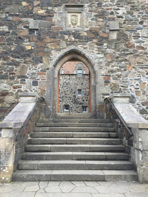 stone castle entrance